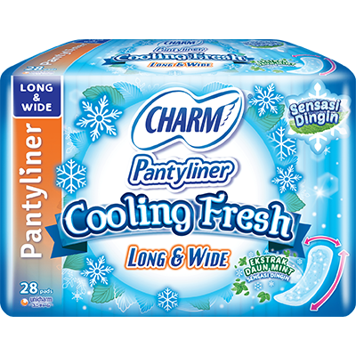 CHARM Pantyliner Cooling Fresh – Long & Wide