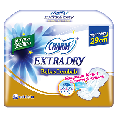CHARM Extra Dry Slim - Night 29cm