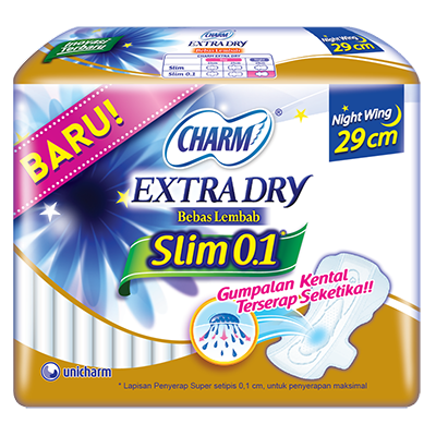 CHARM Extra Dry Slim Night 0.1 – Wing 29cm