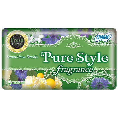 CHARM Pantyliner Purestyle Fragrance Fresh Herbal