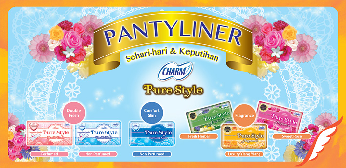 CHARM Pantyliner Purestyle